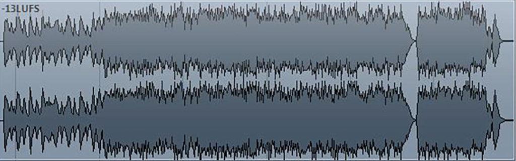 waveform -13LUFS digital master